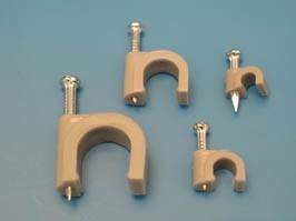 NC-0.4N, Скоба 4х4,2мм с гвоздем, серая, упак. 100 шт.