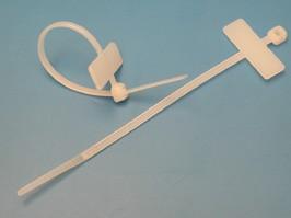 MCV-100, Стяжка 100x2,5мм с маркером, белая, упак. 100 шт.