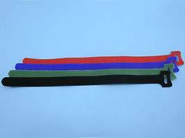 MGT-310BE, Стяжка 310х16 мм с липучкой (синий), (уп.20 шт.)