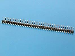 PLS2-40R, Штыревой соединитель 1х40 шаг 2мм, прямой угол