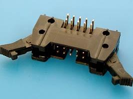 SCM-10R, Разъем 2х5 вилка на плату, с защелками, прямой угол