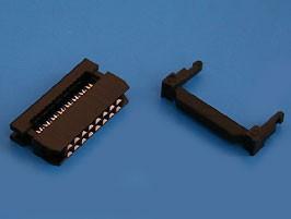 IDC2-16, Разъем 2х8 гнездо на плоский кабель, шаг 2мм