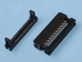 IDC2-20, Разъем 2х10 гнездо на плоский кабель, шаг 2мм