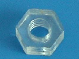 PN-3, Гайка поликарбонатная М3х0.5, 2.7мм, кратно 100 шт.