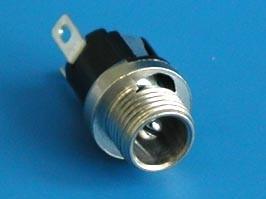 DJK-04B (DS-026), Разъем питания штырев. 2,5мм (п), МИНИ, на пр.бл. (без крепежа)