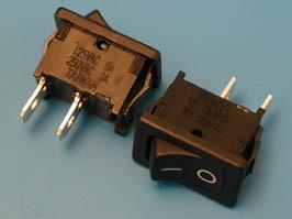 SWR-41 (черн.), Выключатель 2 конт.18х13мм B100G крепл. защелка