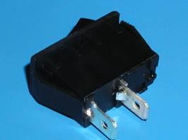SWR-91, Выключатель 220В 2 контакта 28х12мм, черный