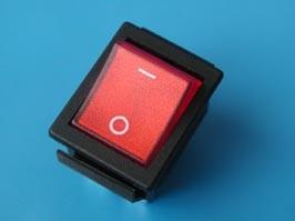 SWR-78/R, Выключатель 4 конт. 29х22мм кр. защелка , с подсветкой (красный) (RL2-1-21R)