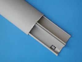 LE-30092, Короб для пола 50х12мм с разделителем, серый