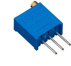PV36W101, 100 Ом (3296W-1-101, СП5-39А), Резистор подстроечный