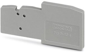 3043307, Connector Accessories End Cover Gray