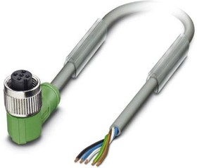 1457186, Cable Assembly Halogen Free 3m 22AWG M12 Circular 5 POS F