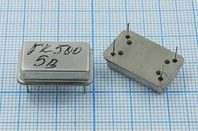 Кварцевый генератор 500кГц 5В, TTL в корпусе FULL=DIL14, без маркировки, гк 500 \\FULL\TTL\5В\XO-43B\DALE бм