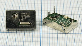 Термокомпенсированный (TCXO) кварцевый генератор 50МГц, 1ppm/0~+50C, гк 50000 \TCXO\18x12x5P3\TTL\ 5В\STA10ATT\SUNNY