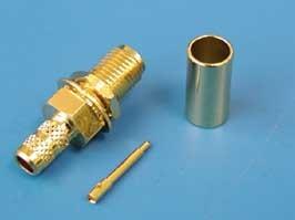 """RP-SMA-C58PG (R901-9863-04RFX), Коннектор """"п"""" на RG-58, позолоченный, обжим"""