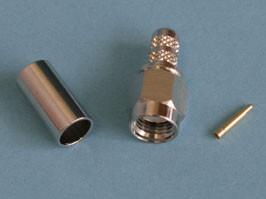 SMA 1111A1-NT50G-1-50, Разъем SMA вилка на кабель RG-58, обжимной, Amphenol