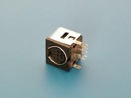 MDN-9FR, Гнездо mini DIN 9 контактов на плату