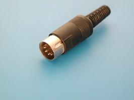DN-5M1, Вилка DN-5M1 5конт.(п) на кабель (45 град.)