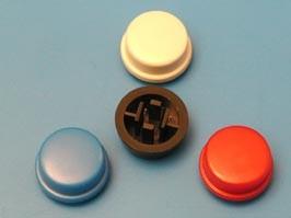 SWT-9R-R, Колпачок круглый для тактовой кнопки (крас.)