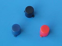 PSM1-K-3-B, Колпачок круглый для мини кнопки (черный)
