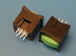 PSM2-0-E-B, Кнопка мини без фиксации, зеленая в черном корпусе