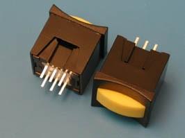 PSM2-0-Y-B, Кнопка мини без фикс. желтая в черном корп.