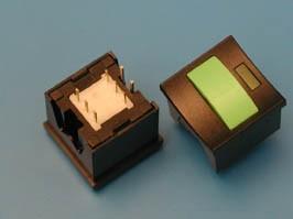 PSM2-1-E-B-E (зеленая), Кнопка с подсветкой ON-OFF
