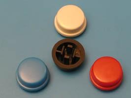 SWT-9R-BK, Колпачок круглый для тактовой кнопки (черный)