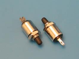 PSW-4-B, Кнопка круглая 2,8мм 220В 0,3А, крепление гайка, НР, черная
