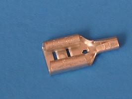 TA-1.25F, Клемма ножевая 6,3мм, гнездо на провод 0,5-1,5мм, кратно 100шт.