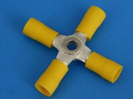 SLC4-5.5, Соединитель проводов d 4мм, для 4 проводов 4,0-6,0мм, скотчлок, изолированный