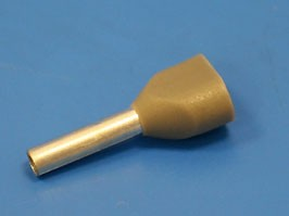 CT207508 (TIC2-0.75-8), Наконечник 8мм для обжима двух многожильн. кабелей 0.75 мм изолир.