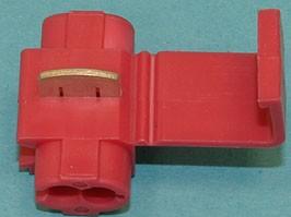 QS-100, Ответвитель для провода 0,5-1,0мм, обжимной, изолированный, кратно 100шт.