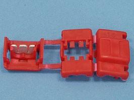 QS-104, Ответвитель для провода 1,5-2,5мм, обжимной, изолированный, кратно 100шт.