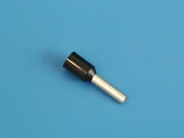 LT15008 (TIC-1.5-8) черный, Наконечник 8мм для обжима многожильн. кабеля 1,5мм изолир.