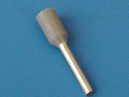 LT07510 (TIC-0.75-10) серый, Наконечник 10мм для обжима многожильн. кабеля 0,75 мм изолир.