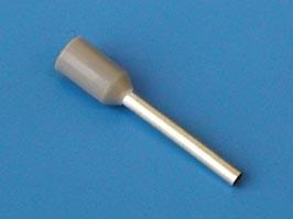 LT07512 (TIC-0.75-12) серый, Наконечник 12мм для обжима многожильн. кабеля 0,75 мм изолир.