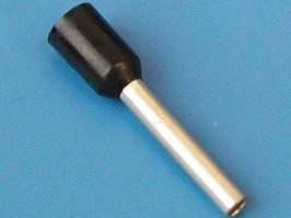 LT15012 (TIC-1.5-12) черный, Наконечник 12мм для обжима многожильного кабеля 1.5 мм изолир.