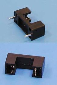 Держатель предохранителя 5х20мм, на плату, 6.3A/250B (200C)(FHP-105)., крепежный элемент