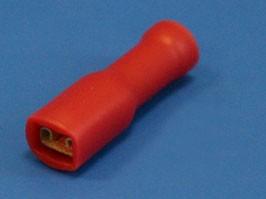 TAI3-1.25I, Клемма ножевая 3.0мм, розетка, полностью изолированная, провод 0.25-1.5 (красная)