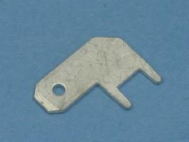 TA-4.9MR, Клемма ножевая 4,9мм, вилка на плату, прямой угол, кратно 100шт.