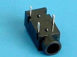 AUB-13, Разъем аудио 3,5мм(м) на плату, стерео, 3 конт., мини
