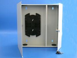 FR-W-16-U-G, Оптический кросс настенный 16 портов со сплайс касcетой (без планок)