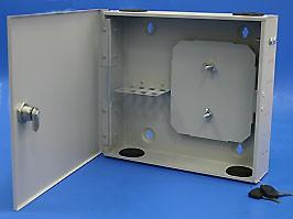 FR-W-8-SC-G, Оптический кросс настенный 8 портов SC со сплайс касcетой