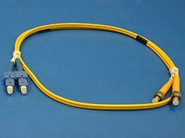 13-DHS1F08-1M/9/125 SC/PC-FC/PC 3.0mm, SC-FC патч-корд одномодовый, 1м (Duplex)