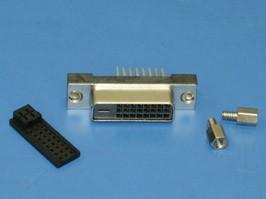 DVI-D-25F, Разъем DVI 25 контактов, гнездо на плату