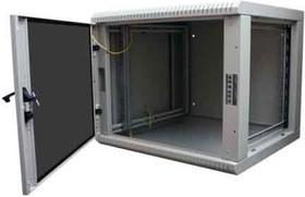 FRT-W655SG, Шкаф настенный 6U, 371x600x550мм, двухсекционный со съемными стенками