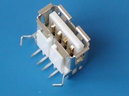 USBA-1J, Разъем USB, тип A, гнездо на плату