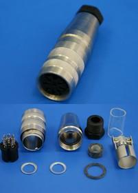 C091 31D008 1002, Разъем серии C091 8 контактов, гнездо на кабель