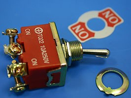 T022B, Тумблер 6 контактов, DPDP, вкл-вкл